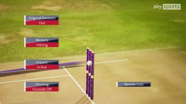 England eight down as Ecclestone falls