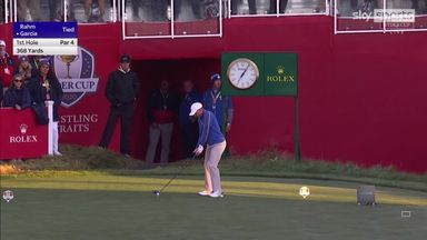 Garcia hits opening shot of Ryder Cup