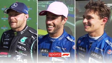 Top three: Ricciardo, Norris, Bottas