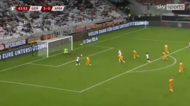 Werner gives Germany 4-0 lead before HT