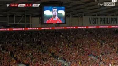 Wales fans pay tribute to Speed