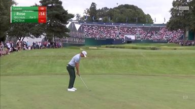 Rose goes inches from an albatross