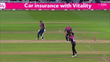 Billings chips it to extra cover!