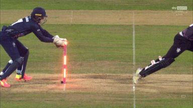 Superb stumping from Billings!