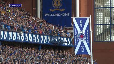 Rangers unfurl league flag at Ibrox