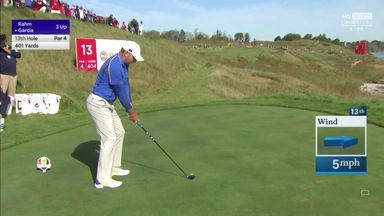 Garcia's funny top off the tee!
