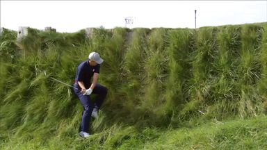 Spieth's ridiculous recovery shot!