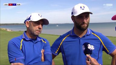 Garcia, Rahm earn first point for Europe