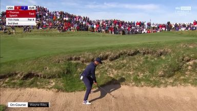 JT and Spieth's double bunker fail!