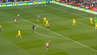 Shot B Mbeumo (11) Brentford 0 - 0 Liverpool