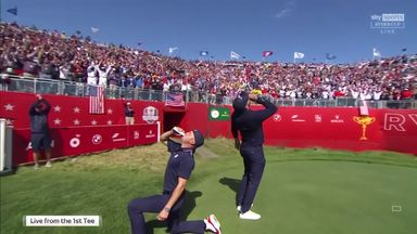 Team USA in party mood at the tee!
