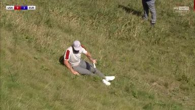 Hatton takes a tumble at the Ryder Cup!