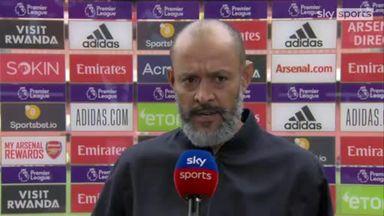 Arsenal v Spurs- Nuno Pre Match