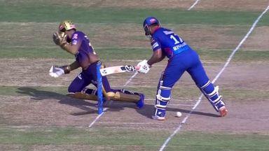 Pant nearly takes out Karthik in IPL!