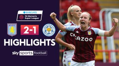 WSL: Aston Villa 2-1 Leicester