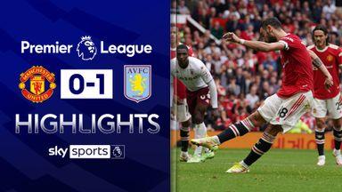 Fernandes misses pen as Villa stun Man Utd