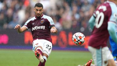 Benrahma gives West Ham the lead