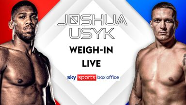 Joshua v Usyk weigh-in LIVE!