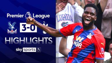 Edouard scores twice as Palace beat 10-man Spurs