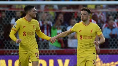 HT Brentford 1-1 Liverpool