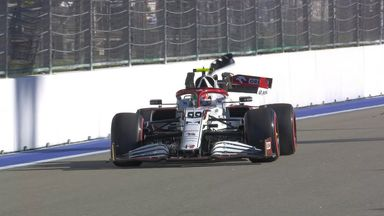 Giovinazzi crashes his Alfa Romeo!
