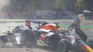 Verstappen, Hamilton collide and crash-out!