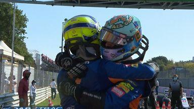 McLaren celebrate one-two in Monza