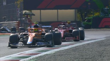 Norris overtakes Leclerc for second