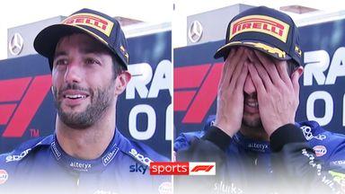 Emotional Ricciardo left speechless