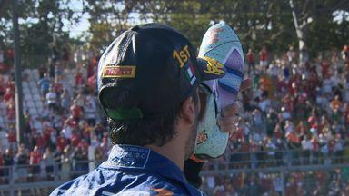 Ricciardo does shoey after win