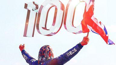 Hamilton makes history with 100th win