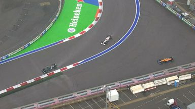 Norris spins off, Hamilton leads!