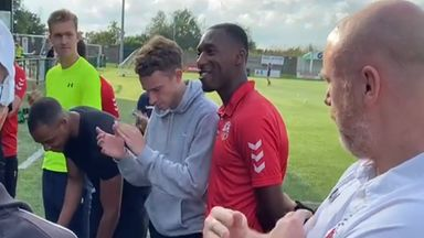 Footballer tells team-mates why he's coming out as bi