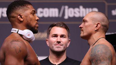 Joshua, Usyk engage in tense staredown
