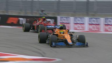 Norris passes Sainz for the lead!