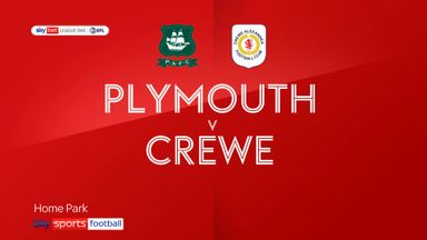 Plymouth 1-1 Crewe