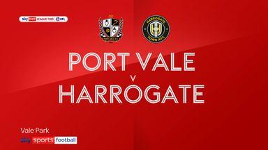 Port Vale 2-0 Harrogate