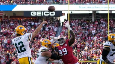 Rodgers' best throws from 261-yard night
