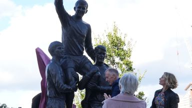 West Ham unveil Moore, Peters and Hurst statue