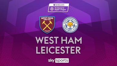 WSL: West Ham 4-0 Leicester