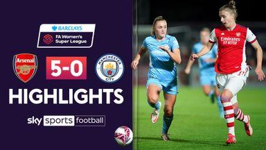 WSL: Arsenal 5-0 Manchester City