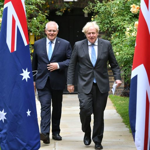Ministers bowed to pressure to drop key climate commitments for UK trade deal with Australia