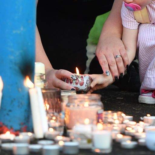 s: Hundreds attend vigil after mum, two children, and friend 'on a sleepover' found dead