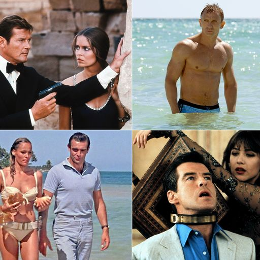 Who's the best 007? From Connery to Craig, a look back at all 25 films in pictures