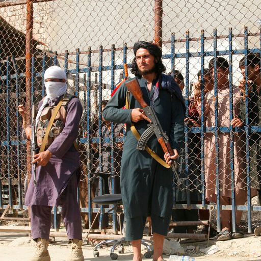 Taliban fighters armed with knuckle dusters and whips guard Pakistan-Afghanistan border