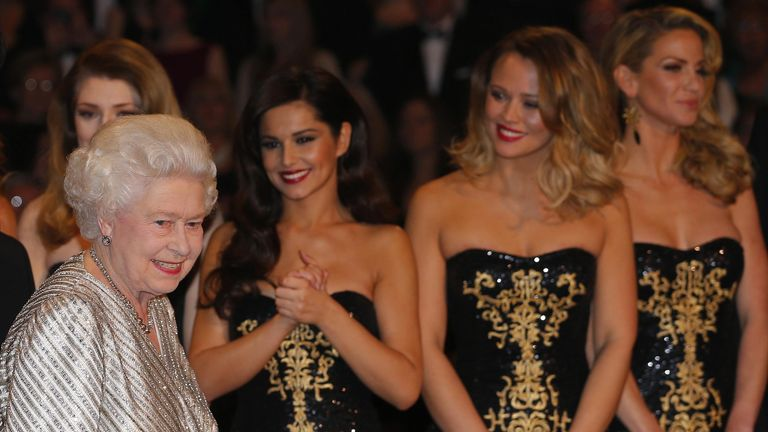 The singer was part of the Girls Aloud who was part of a performance at the Royal Variety show in 2012
