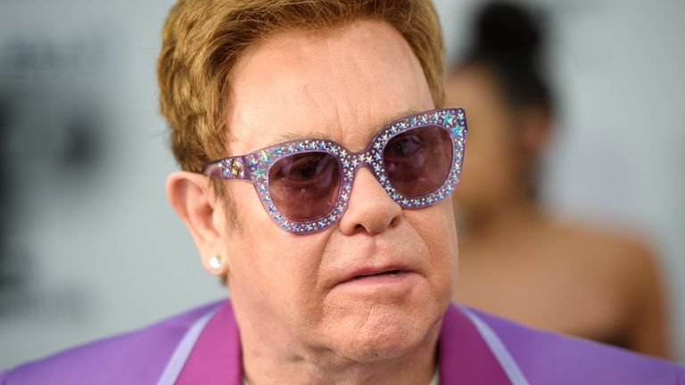 """File photo dated 24/07/19 of Sir Elton John who has described the Government as """"philistines"""" over their handling of the music industry post-Brexit. The singer, 74, said he was """"livid"""" about the lack of provision made for sections of the entertainment industry that rely on travel within the European Union. Issue date: Sunday June 27, 2021."""
