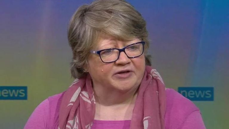 Work & Pensions Secretary Therese Coffey is 'happy' with cuts to universal credit