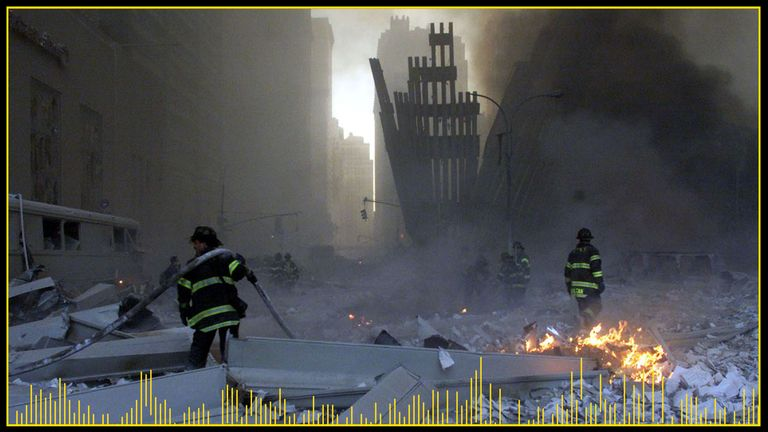 Hundreds of firefighters were among those who died in the 9/11 attacks