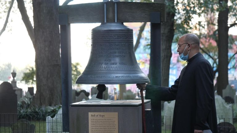 The Bell of Hope was gift from the City of London to New York City 20 years ago